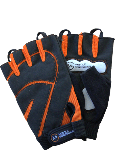 Musclegeneration Trainingshandschuhe schwarz / orange
