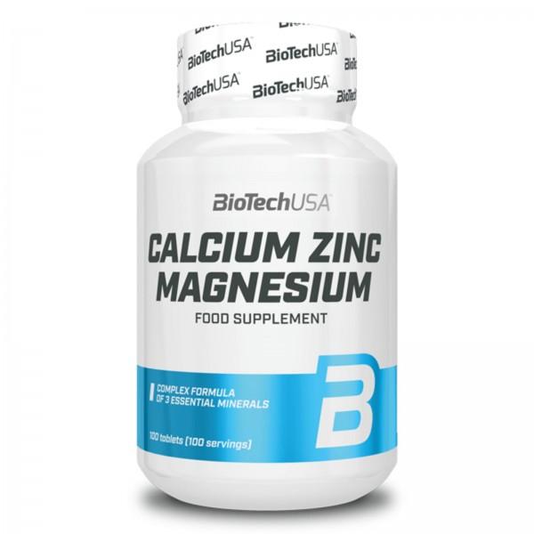 BioTech USA Calcium Zink Magnesium 100 Tabletten