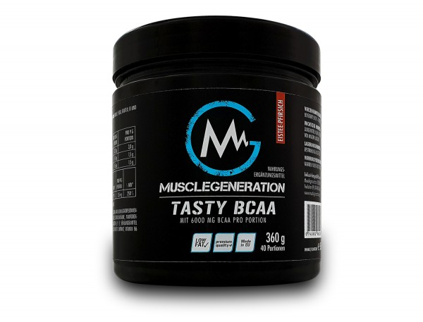 Musclegeneration Tasty BCAA 360g MHD 31.10.2020