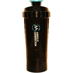 Musclegeneration Premium Shaker + 2 Boxen schwarz