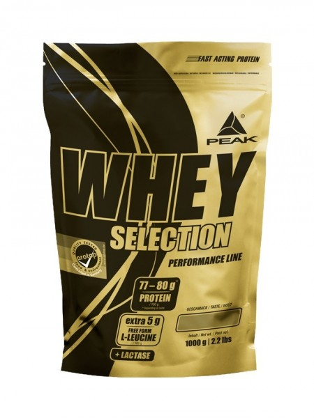 Peak Whey Selection Beutel 1000g